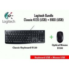 Logitech Key K120+Mouse B100