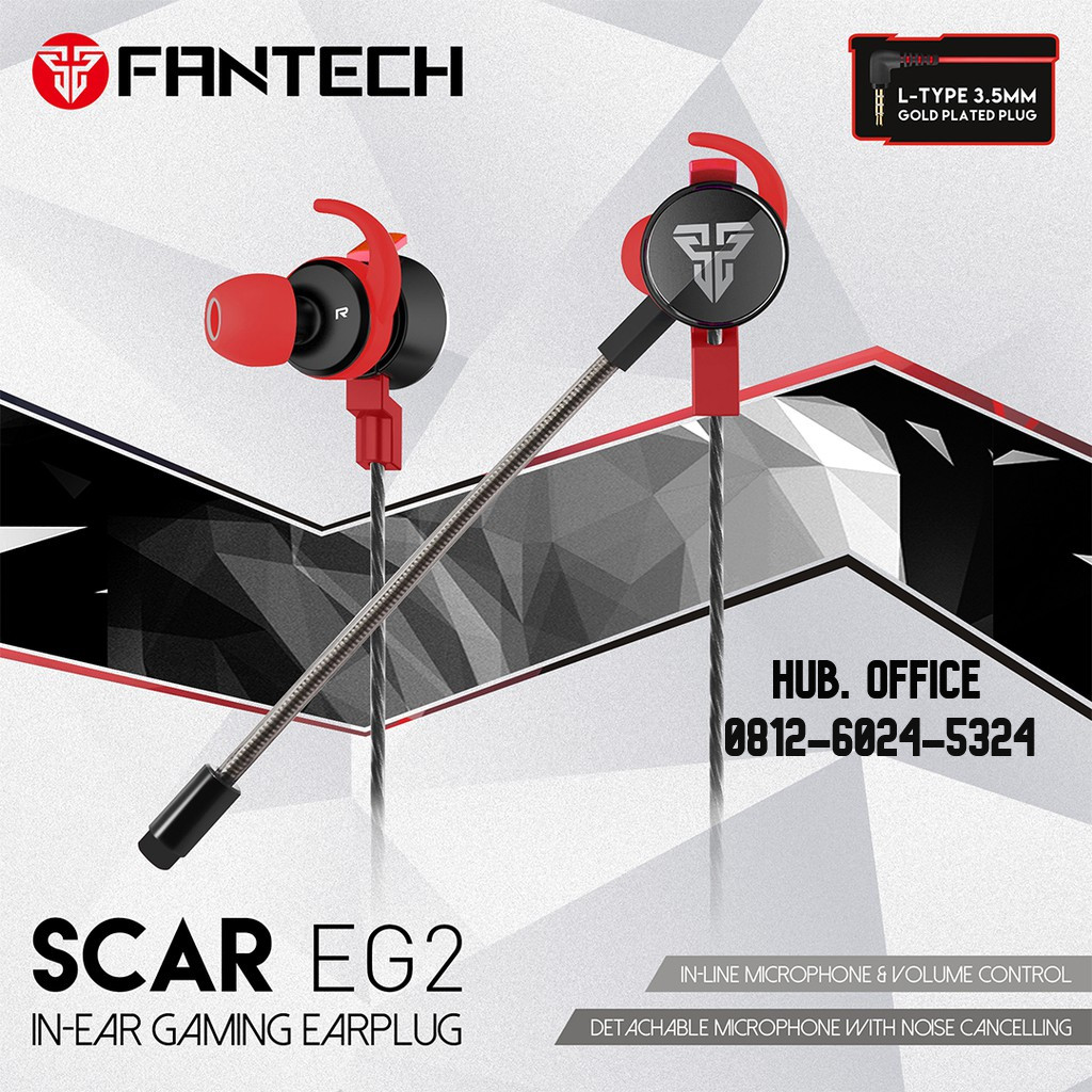 HEADSET GAMING FANTECH EG-2 SCAR GAMING EARPHONE