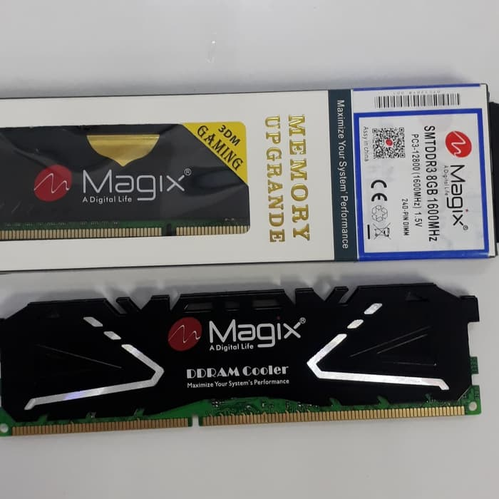 Magix DDR3 8GB (1600Mhz)+Heatsink